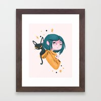 Twitchy, Witchy Girl Framed Art Print