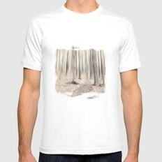 walking through the last days of autumn Mens Fitted Tee SMALL White