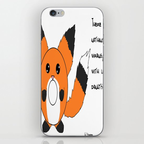 Donut fox  iPhone & iPod Skin