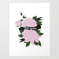Girl Gang Illustration Art Print