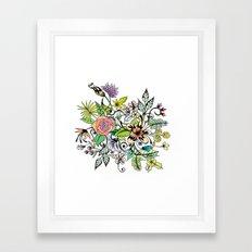 Floral White Framed Art Print