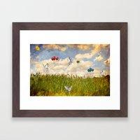 Pegasus and Balloons Framed Art Print