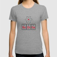 BaZnGa! Womens Fitted Tee Tri-Grey SMALL