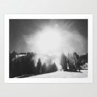 Blowing Snow Art Print