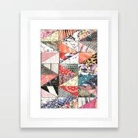 Patchwork Framed Art Print