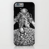 iPhone & iPod Case featuring Texas Chainsaw Astronaut: New Moon by Nick Volkert