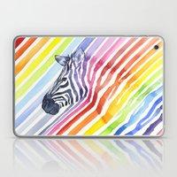 Zebra Rainbow Stripes Camouflage Laptop & iPad Skin