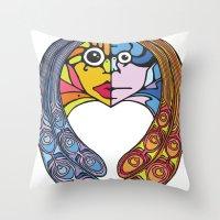 Atomos, The Indivisible Throw Pillow