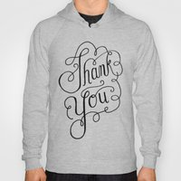Thank you Hand Lettered Calligraphy Hoody