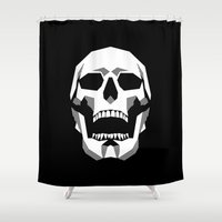 Grim Geometry Shower Curtain