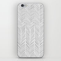 Freeform Arrows in gray iPhone & iPod Skin