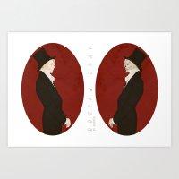 Dorian Gray (Scarlet)  Art Print