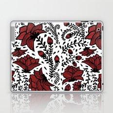 Red Flower Garden Laptop & iPad Skin