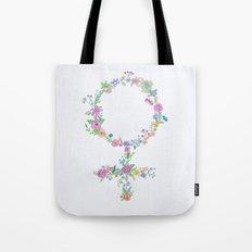 Feminist flower Tote Bag
