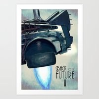 Back To The Future II Art Print