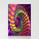 Coloured Spiral wheel Stationery Cards