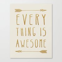Everything Is Awesome (b… Canvas Print