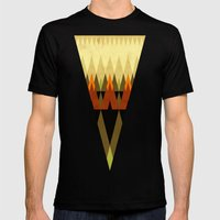 Living In The Woods Mens Fitted Tee Black SMALL