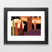 CITY BY MOON LIGHT - 001 Framed Art Print