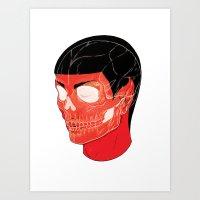 Red Vulcan Art Print