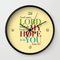 My Hope Is In You Wall Clock