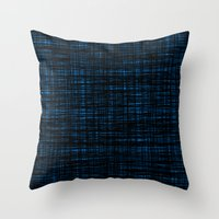 platno (black and blue) Throw Pillow