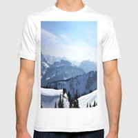 Snow Landscape In Austri… Mens Fitted Tee White SMALL