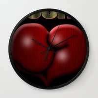 He Beat Them with Heart, Not Muscle - Rocky Wall Clock