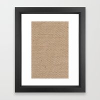 BURLAP Framed Art Print