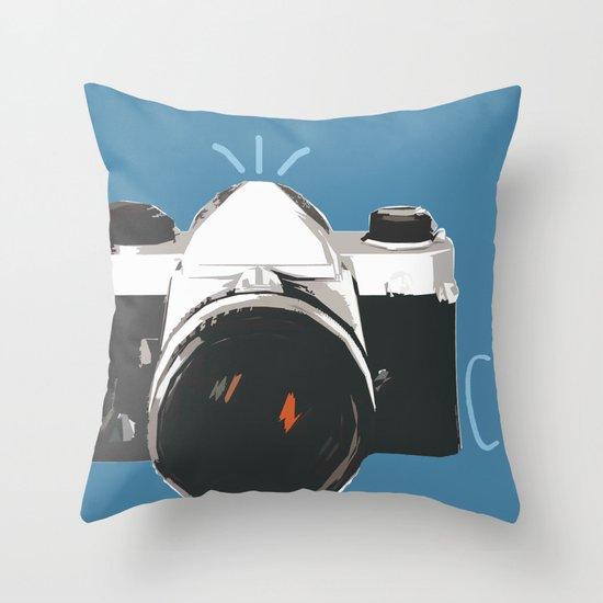 Click! - camera Throw Pillow