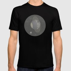 Skate planet Black SMALL Mens Fitted Tee