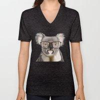 A Baby Koala With Glasse… Unisex V-Neck