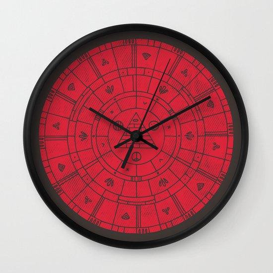 Sacred Sun Wall Clock