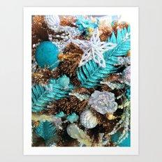 Merry Sparkling Christmas Bohemian Style Art Print