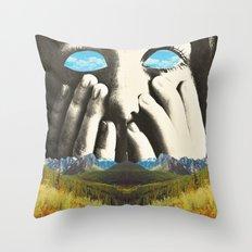 Nauges dans les yeux Throw Pillow