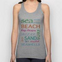 Beach typography Unisex Tank Top