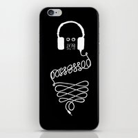 Possessed by the Beat (black) iPhone & iPod Skin