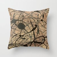 Pollock Inspired Abstrac… Throw Pillow