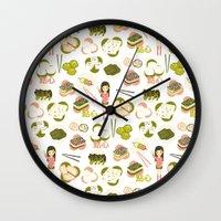 Dim sum pattern Wall Clock