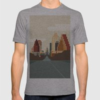 Austin Skyline Mens Fitted Tee Athletic Grey SMALL