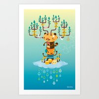 Cloud Music Art Print