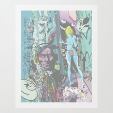 Crazy Music Art Print