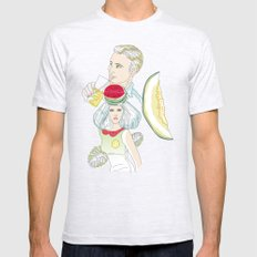 melon, watermelon and lemon Mens Fitted Tee Ash Grey SMALL