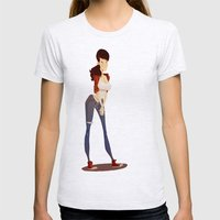 Gary Womens Fitted Tee Ash Grey SMALL