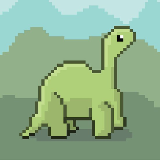 Another Pixel Dino! Art Print