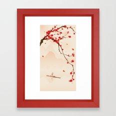 Oriental Plum Blossom In… Framed Art Print