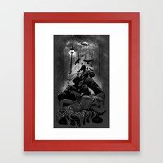 When the Moon Bleeds Framed Art Print