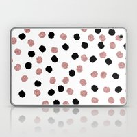 Modern Rose Gold Black A… Laptop & iPad Skin