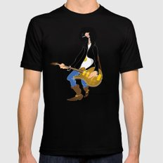 Guitar Hero SMALL Black Mens Fitted Tee
