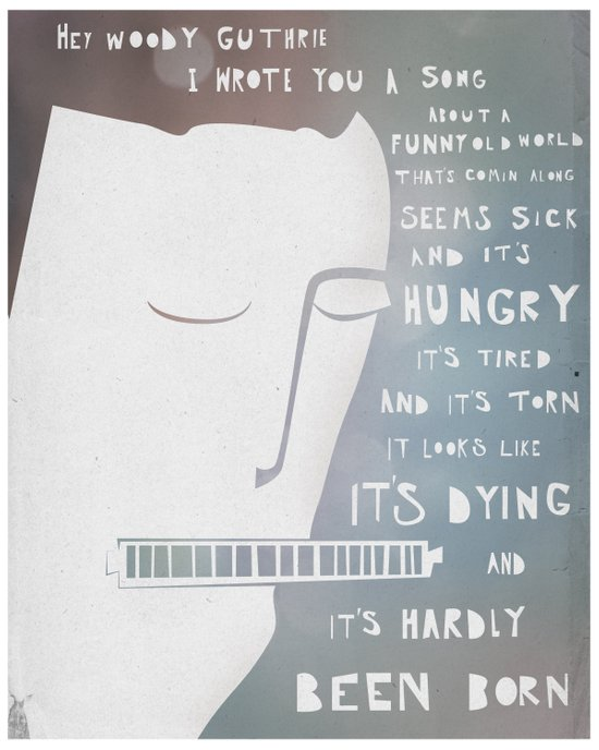 Dylan's Song for Woody Art Print